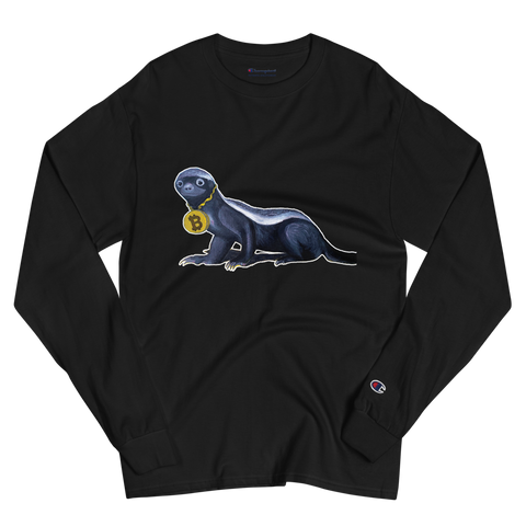 Bitcoin Honey Badger Men's Long Sleeve Shirt