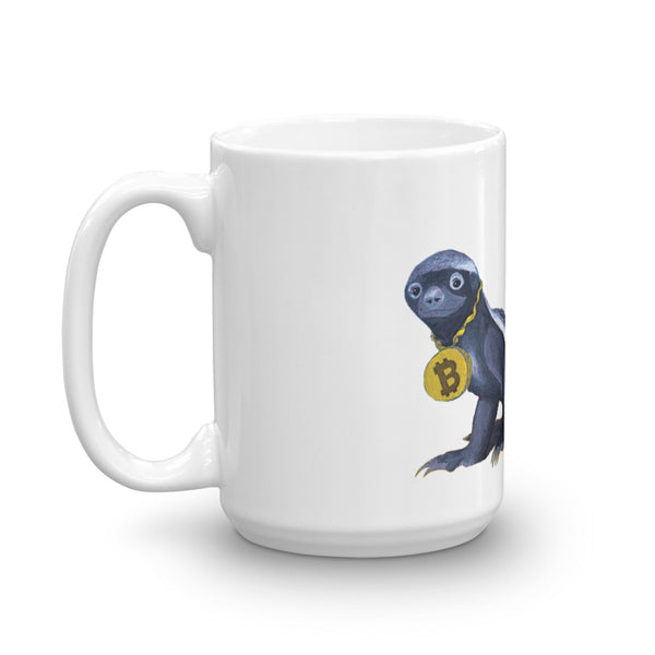 Head Honey Badger In Charge Bitcoin Mug