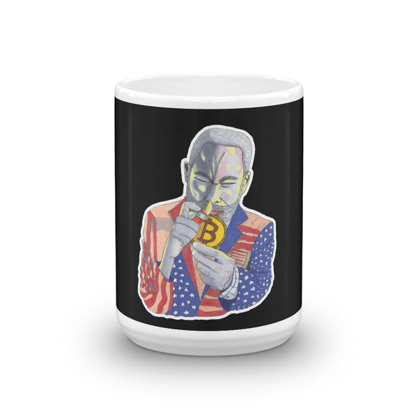 Augmented Reality Compatible CANT SMOKE A BITCOIN Mug