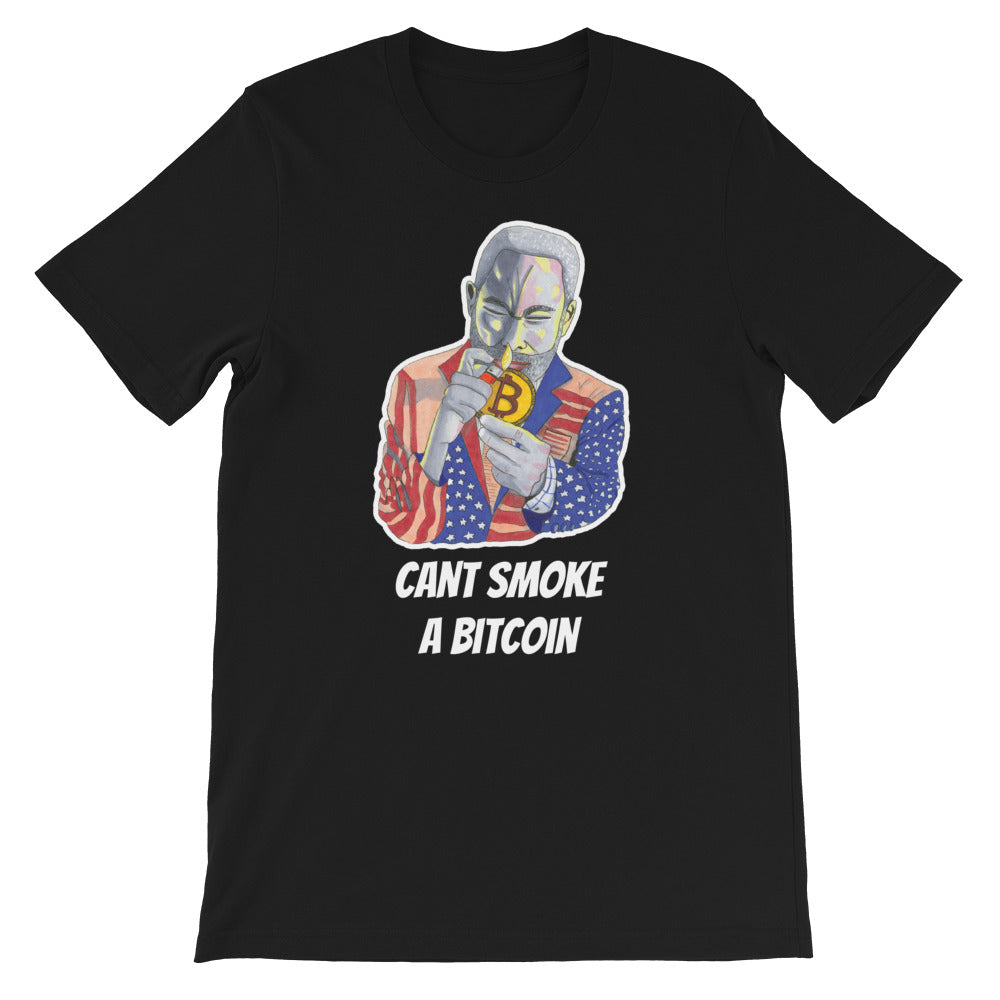 Cant Smoke A Bitcoin Short-Sleeve Unisex T-Shirt
