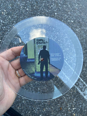 "RESIDUE NFT & 1/1 RARE CLEAR 7"" AUGMENTED REALITY- VINYL"