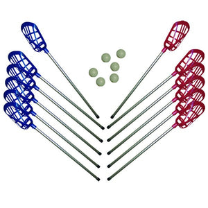 LACROSSE SET (12 Sticks + 6 Pel.)