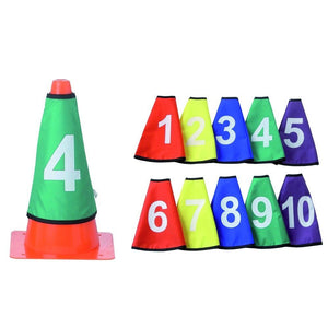 SET NUMBERED COVERS FOR CONES