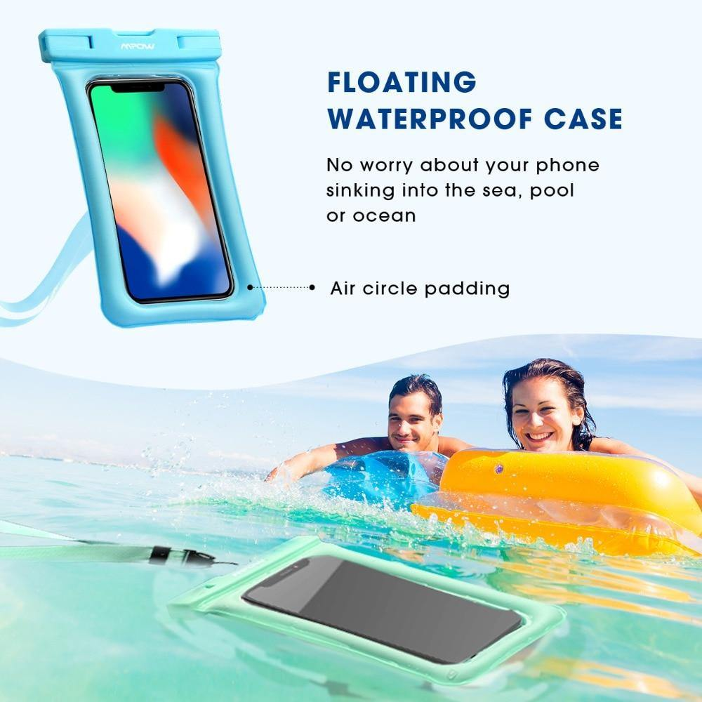 Universal Floating Waterproof Mobile Case For iPhone Xs IPX8 Samsung Huawei - Reflexcart