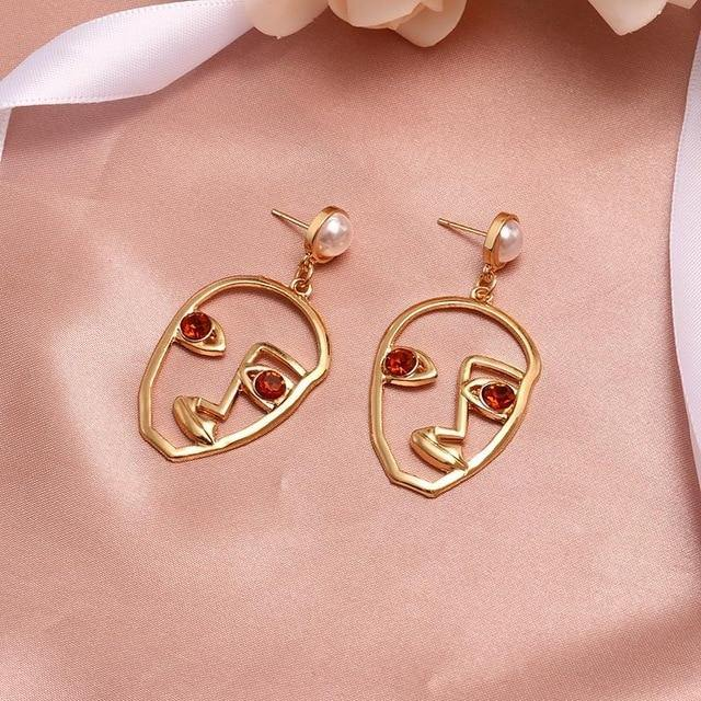 New Fashion Gold Round Dangle Drop Earrings For Women Wedding 2020 - ReflexCart
