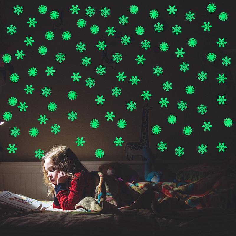 3D Snowflake Luminous Wall Stickers