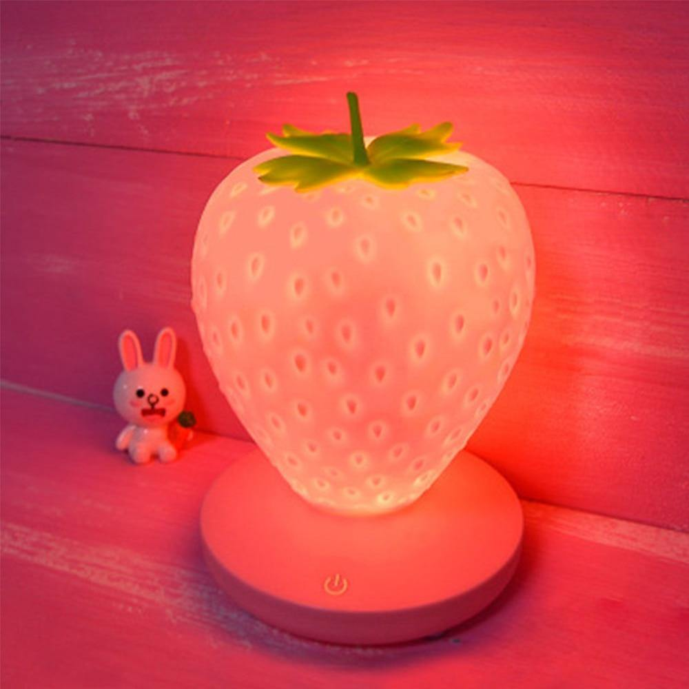 Creative Home Strawberry Night Light USB Charging Strawberry Night Light Creative Touch Induction Table Lamp Room Decoration