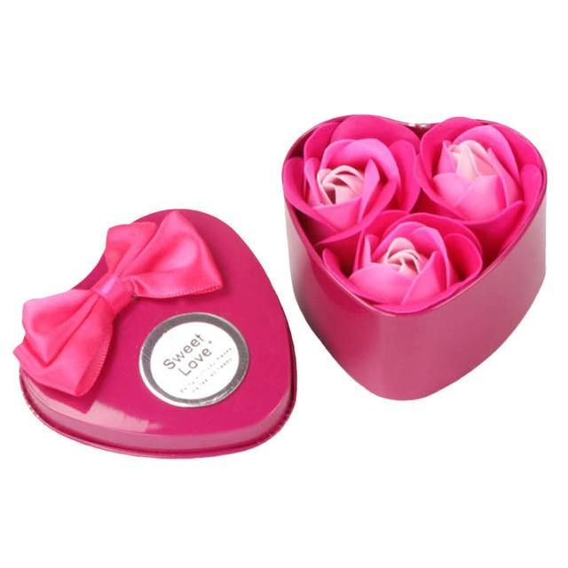 Heart Body Petal Rose Flower Soap Valentine's Day Gift - ReflexCart