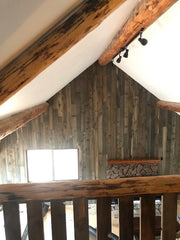 Accent Wall - lava butte rustic wood