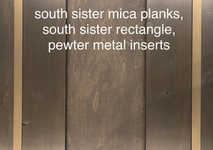 metal options- inserts, corners and planks