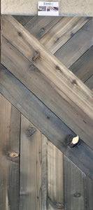 rustic wood - natural, white, and black PLANKS -  20sf per box