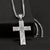32106 Twister Men's Cross Necklace