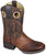 2481 Smoky Mountain Boots Kid's LUKE Saddle Vamp Brown