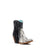 C2909 Corral Women's Black / Natural PYTHON with Fringe Short Boot