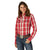 LW1015R Wrangler Retro® Women's Red Plaid Snap Americana Shirt