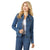 LWJ701D Wrangler® Western Women's Denim Jacket Top - Dark Denim Wash