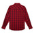 MVG291R Wrangler® Men's Snap Long Sleeve Snap Shirt - RED PLAID