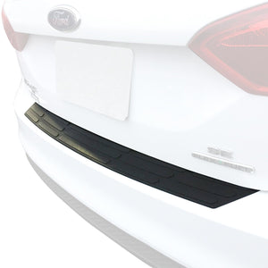 Red Hound Auto Rear Bumper Protector Compatible with Ford Focus Sedan 4-Door Scratch Cover Custom Fit Replacement Black 2012-2019