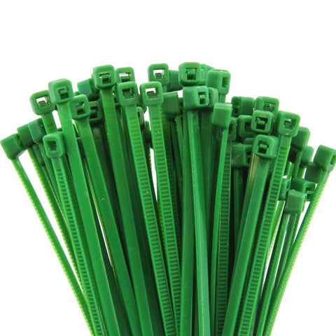 2500 Heavy Duty 4 Inches 18 Pound Zip Cable Ties Nylon Wrap Green
