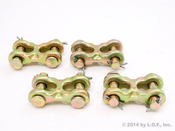 Red Hound Auto (4) Safety Chain RePair Link 3/8 Inches Twin Clevis G70 6600 WLL