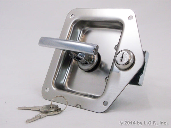 Red Hound Auto 4 Rv Door Tool Box Lock with Gasket T-Handle Latch with Keys 304 Stainless Steel Highly Polished