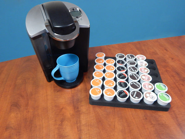 "Coffee Pod Organizer fits Keurig K-Cup 12.5"" x 12.5"" (for drawers up to 2.25"" tall)"