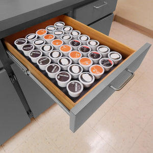 Polar Whale Coffee Pod Storage Organizer Tray Drawer Insert for Kitchen Home Office Waterproof Washable Made in Usa 10.9 X 14.9 X 2 Inches Holds 35 Compatible with Keurig K-Cup