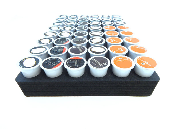 Polar Whale Coffee Pod Storage Organizer Tray Drawer Insert for Kitchen Home Office Waterproof Washable  12.6 X 17.9 X 2 Inches Holds 48 Compatible with Keurig K-Cup