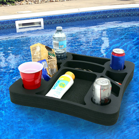 Polar Whale Floating Drink Holder Refreshment Table Tray for Pool or Beach Party Float Lounge Durable Foam 17.5 Inches Large 10 Compartments UV Resistant