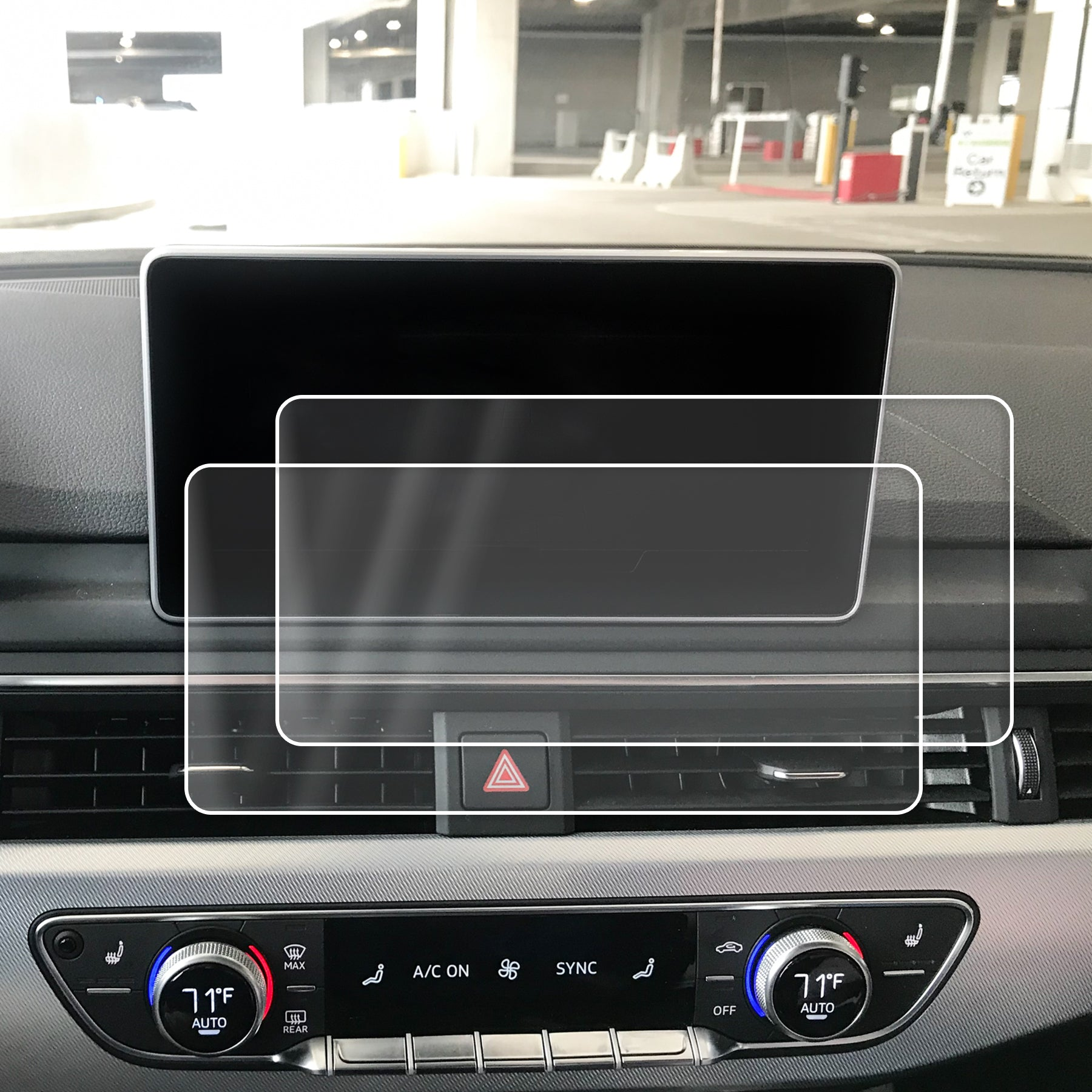 Red Hound Auto Screen Saver 2pc Compatible with Audi A4 2017-2019 mmI Invisible High Clarity Touch Display Protector Minimizes Fingerprints 8.3 Inch