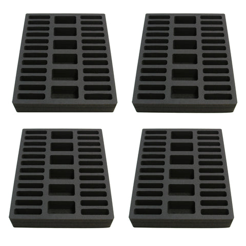 Polar Whale 4 Compact Drawer Organizers Compatible with IKEA Alex Tray Washable Waterproof Insert for Home Bathroom Bedroom Office  11.5 x 14.5 x 2.25 Inches 30 Compartments Black