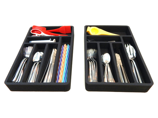 Polar Whale Flatware Silverware Drawer Organizer for Rv and Campers Cutlery Forks Knives Spoons Non-Slip Waterproof Compact Tray Insert  20.5 X 15.9 X 2 Inch 12 Slot Great for Home Kitchen