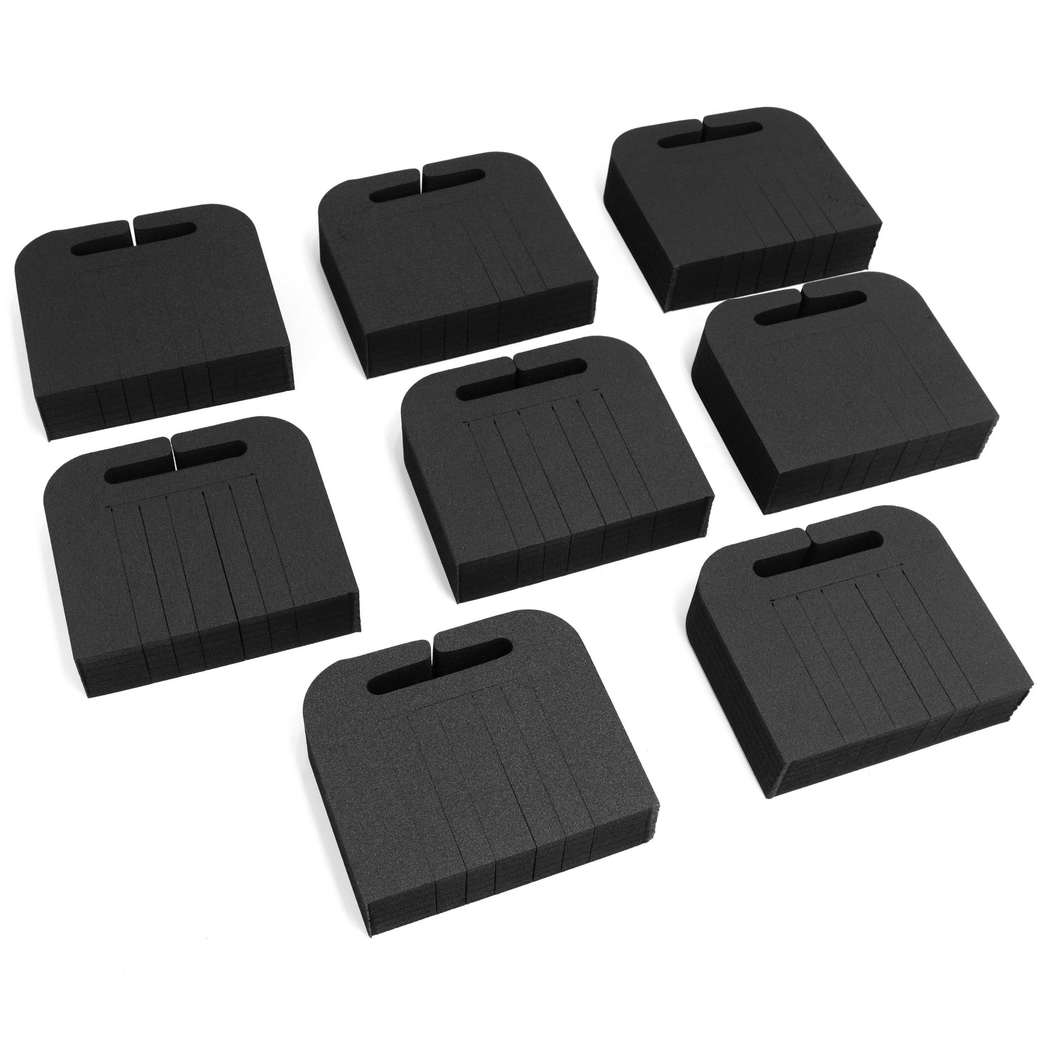 Polar Whale Tv Edge Protectors Set 7.5 By 6.5 Inches Professional Grade with Cargo Slot for Boxing Moving Shipping Transport Black High Density Foam Monitor Laptop Reusable Secure Fit Pack of 8