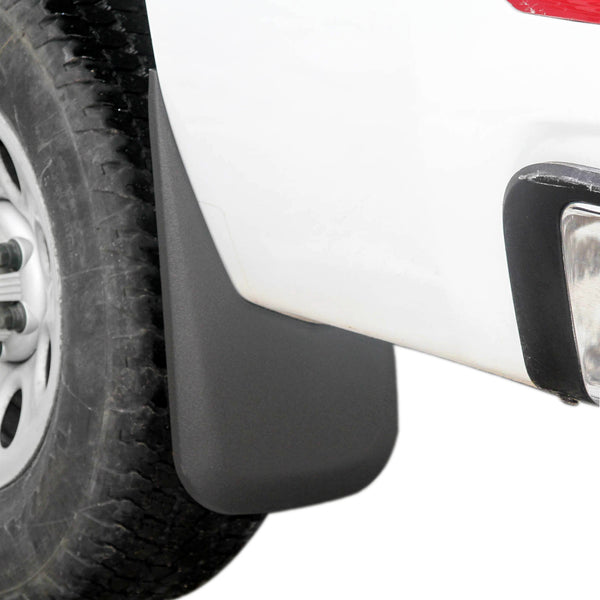 2007-2013 Compatible with Chevy Silverado Mud Flaps Guards Splash Rear Molded 2pc Set