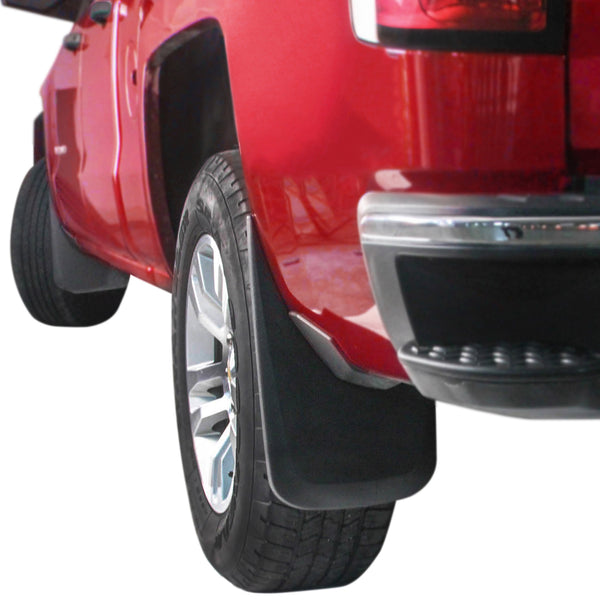Red Hound Auto Premium Heavy Duty Molded Compatible with Chevy Silverado 1500 (2014-2018 & 2019 1500LD), 2500 3500 (2015-2018) Splash Mud Flaps Guards Front & Rear 4 Piece Set