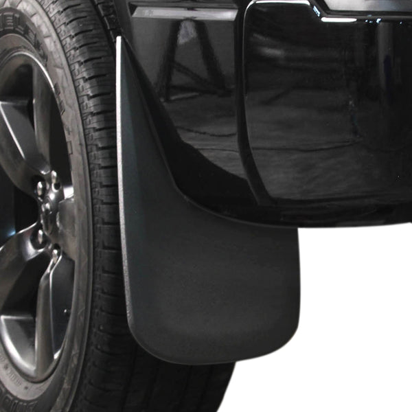 Red Hound Auto 2009-2017 Dodge Ram 1500 or 2010-2017 2500 3500 Molded Splash Custom Fit Mud Flaps - Rear Only 2 Piece Set Pair - Without Flares