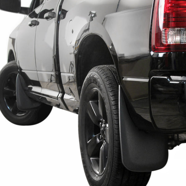 Red Hound Auto Premium Mud Flaps Splash Guards Compatible with Dodge Ram (1500 2009-2018, 1500 Classic 2019, 2500 3500 2010-2018) Molded Front & Rear 4 Piece Set (for Trucks Without Fender Flares)