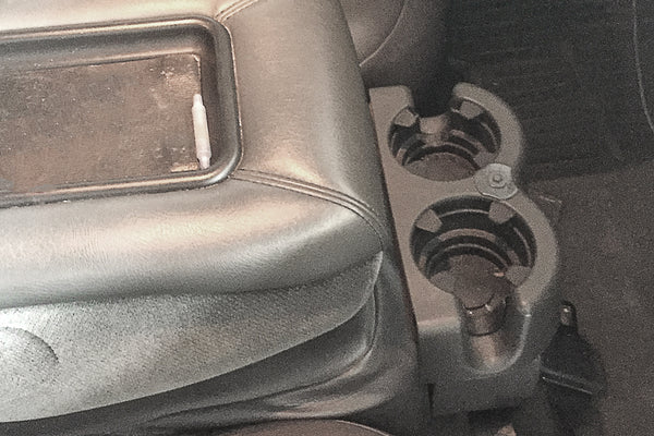 Red Hound Auto Front Seat Floor Cup Holder Insert 2001-2006 Compatible with GMC Sierra Liner Regular Cab Replacement