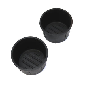 Red Hound Auto Cup Holder Inserts 2 Piece Compatible with F150 fits Front Center Console Rubber Black Liner Beverage Holder Pair Set