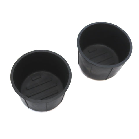 Red Hound Auto Cup Holder Inserts 2 Piece Compatible with F150 2011-2019 fits Front Center Console Rubber Black Liner Beverage Holder Pair Set