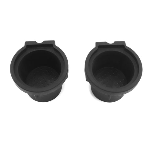 Red Hound Auto Cup Holder Inserts 2 Piece Compatible with Nissan Maxima 2015-2019 fits Front Center Console Rubber Black Liner Beverage Holder Pair Set
