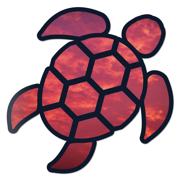 Sea Turtle Red Sky Sticker Self-Adhesive Vinyl Decal Rear Window Car Truck Laptop New 2.5 Inches