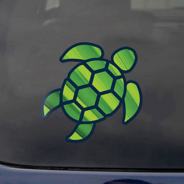 Red Hound Auto Sea Turtle Green Burst Sticker Decal Wall Tumbler Cup Window Car Truck Laptop 2.5 Inches