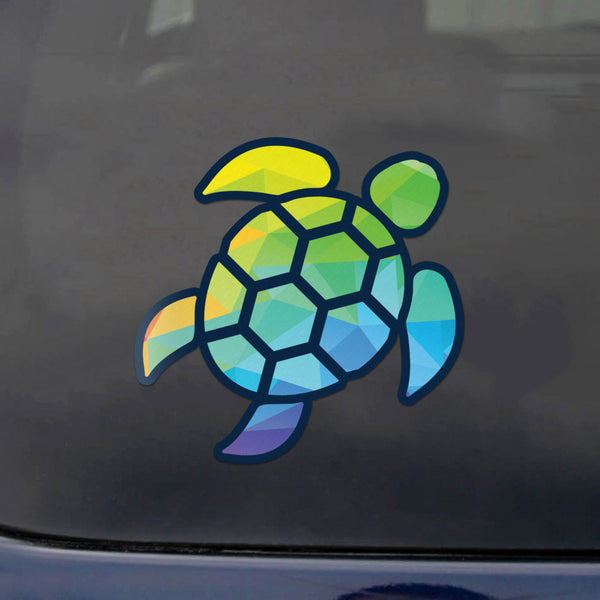 Red Hound Auto Sea Turtle Geometric Color Sticker Decal Wall Tumbler Cup Window Car Truck Laptop 4 Inches