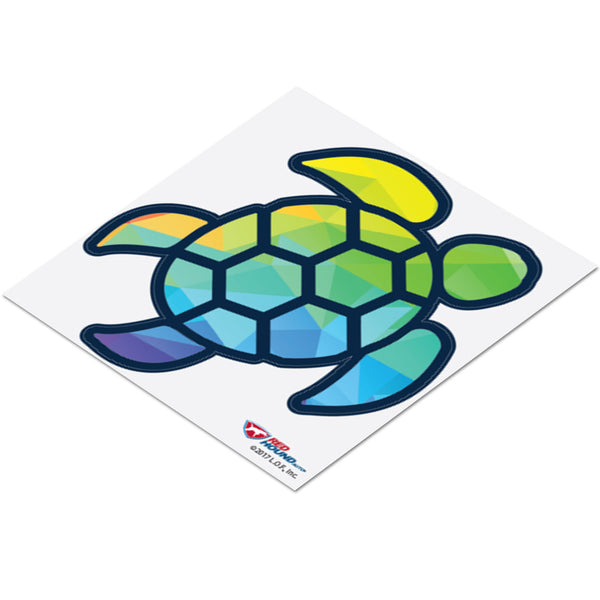 Red Hound Auto Sea Turtle Geometric Color Sticker Decal Wall Tumbler Cup Window Car Truck Laptop 2.5 Inches