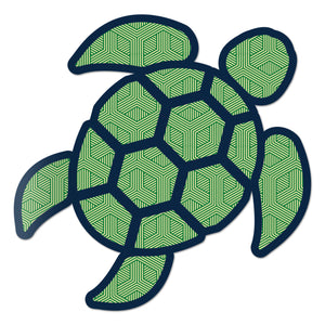 Red Hound Auto Sea Turtle Geometric Green Sticker Decal Wall Tumbler Cup Window Car Truck Laptop 2.5 Inches