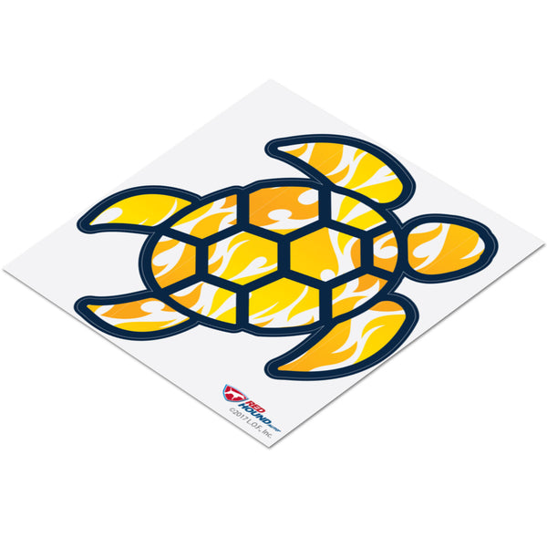 Red Hound Auto Sea Turtle Yellow Tribal Sticker Decal Wall Tumbler Cup Window Car Truck Laptop 4 Inches
