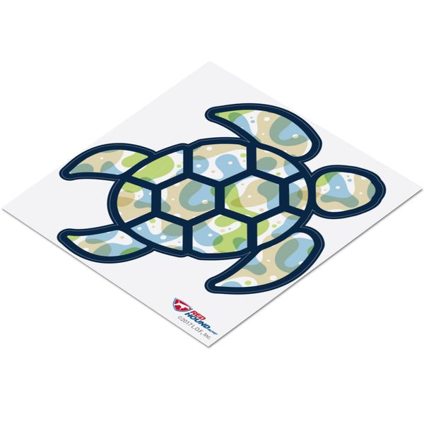 Red Hound Auto Sea Turtle Blue Green Overlay Sticker Decal Wall Tumbler Cup Window Car Truck Laptop 4 Inches