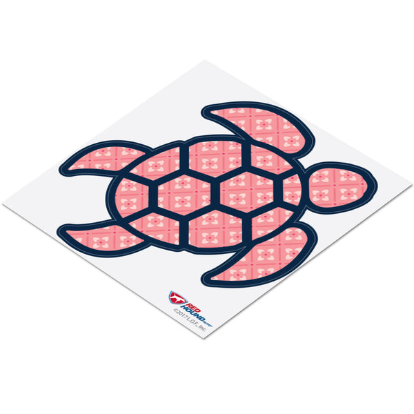 Red Hound Auto Sea Turtle Pink Flower Sticker Decal Wall Tumbler Cup Window Car Truck Laptop 2.5 Inches