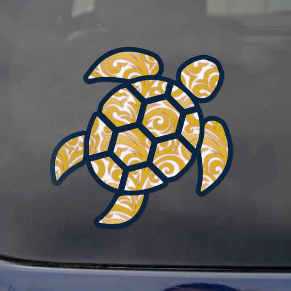 Red Hound Auto Sea Turtle Tribal Swirl Sticker Decal Wall Tumbler Cup Window Car Truck Laptop 4 Inches